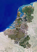 Cartography Photos - Benelux Countries by Planetobserver