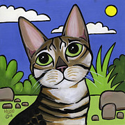 Wild Cats Paintings - Bengal Beauty by Leanne Wilkes