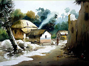 Samiran Sarkar - Bengal Village at...