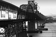 Bay Bridge Posters - Benicia-Martinez Bridges in Martinez California . 7D10424 . Black and White Poster by Wingsdomain Art and Photography