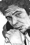 Traffic Drawings Prints - Benicio del Toro Print by Chris Fader