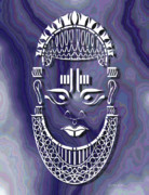 Tribal Art Digital Art - Benin Queen Mother by Walter Neal
