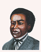 Thomas Jefferson Drawings Prints - Benjamin Banneker Print by Emmanuel Baliyanga