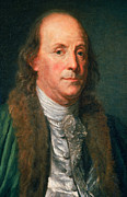 Spokesman Posters - Benjamin Franklin, American Polymath Poster by Photo Researchers