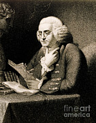 Colonial Man Framed Prints - Benjamin Franklin, American Polymath Framed Print by Science Source