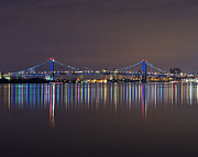 Benjamin Franklin Framed Prints - Benjamin Franklin Bridge Framed Print by Conor McLaughlin