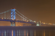 Bridgescape Prints - Benjamin Franklin Bridge Print by Derek  Burke