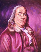 Statesman Painting Posters - Benjamin Franklin Poster by Ed Breeding