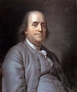 Pastel Portrait Framed Prints - Benjamin Franklin Framed Print by Granger