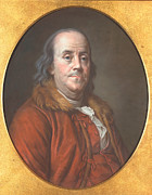 American Revolution Painting Metal Prints - Benjamin Franklin Metal Print by Jean Valade