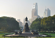 Benjamin Franklin Digital Art - Benjamin Franklin Parkway by Bill Cannon