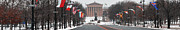 Art Museum Prints - Benjamin Franklin Parkway Panorama Print by Bill Cannon