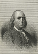Benjamin Franklin Framed Prints - Benjamin Franklin, Us Scientist Framed Print by Science, Industry & Business Librarynew York Public Library