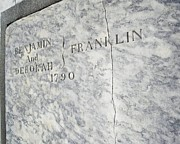 Downtown Franklin Prints - Benjamin Franklins Grave Print by Snapshot  Studio