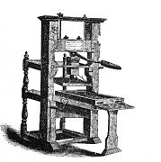 Illustrate Photos - Benjamin Franklins Printing Press by Science Source