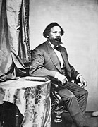Black Man Photo Framed Prints - Benjamin S Turner Framed Print by Mathew Brady