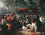 Battle Of Trafalgar Art - Benjamin West by The Death of Nelson