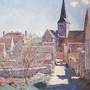 Bennecourt Print by Claude Monet