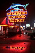 Photographers College Park Metal Prints - Bennetts Calabash Seafood Buffet Myrtle Beach Metal Print by Corky Willis Atlanta Photography