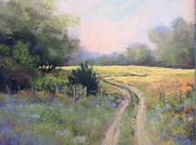 Dirt Road Paintings - Bennington Road Fields by Bonnie Zahn  Griffith