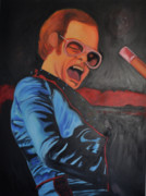 Elton John Painting Metal Prints - Benny and the jet Metal Print by Mitchell Todd