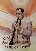 Musician Paintings - Benny Goodman Portrait by Suzanne Giuriati-Cerny