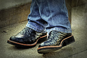Bennys Boots Print by Joan Carroll