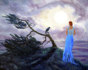 Laura Iverson - Bent Cypress and Blue Lady