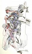 Orchestra Drawings Metal Prints - Bent Forks in hand Metal Print by James  Christiansen