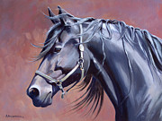 Friesian Paintings - Bente by Alecia Underhill