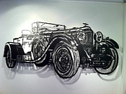 Car Sculptures - Bentley 1931 by John Rowley