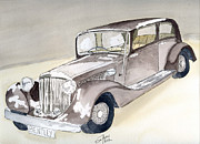 Classic Cars Originals - Bentley 1934 by Eva Ason