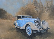 Car Painting Framed Prints - Bentley by Kellner Framed Print by Peter Miller