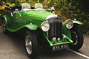 Kirkland Prints - Bentley Roadster Green Print by Curt Johnson