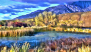 Hawkins Mixed Media - Benton Pond by Frank Lee Hawkins Eastern Sierra Gallery