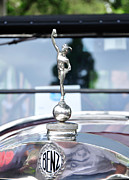 Collectors Car Framed Prints - Benz 1916 DS2 - Hood Ornament and Badge Framed Print by Kaye Menner