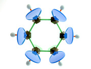 Orbital Photos - Benzene Molecule by Lawrence Lawry
