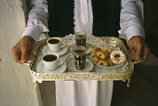 Trays Posters - Berber Hospitality In The Form Of Tea Poster by Bobby Model