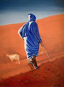 Yvonne Ayoub Art - Berber Shepherd in the Atlas Mountains by Yvonne Ayoub