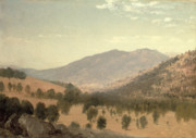 Mountainous Paintings - Bergen Park by John Frederick Kensett