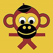 Monkey Posters - Berhnard Poster by Asbjorn Lonvig
