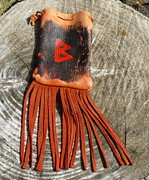 Female Tapestries - Textiles Originals - Berkana Rune Bag by Steamy Raimon