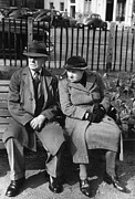 Two By Two Framed Prints - Berkeley Couple Framed Print by Kurt Hutton