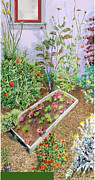 House With Garden Framed Prints - Berkeley Garden #1 Framed Print by Joanna  Katz