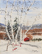 Snowscape Paintings - Berkshire Winter II by Alan Mager