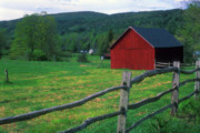 Berkshires Prints - Berkshires Barn Tyringham Cobble Print by John Burk