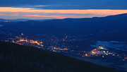 Berkshires Prints - Berkshires Twilight from Spruce Hill Savoy Mountain Print by John Burk