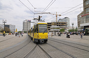 Bahn Metal Prints - Berlin Alexanderplatz square Metal Print by Matthias Hauser