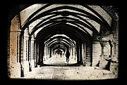 Photo Manipulation Photo Framed Prints - Berlin Arches Framed Print by Andrew Paranavitana