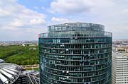 Bahn Metal Prints - Berlin Bahn Tower Potsdamer Platz Square Metal Print by Matthias Hauser